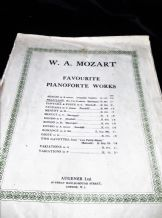 ANTIQUE SHEET MUSIC W A MOZART FAVOURITE WORKS PHANTASIE No3 D MINOR 1914 AUGENE